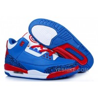 Big Discount! 66% OFF! Men NK Air JD 3 Captain America Blue/Red/White PWmDS