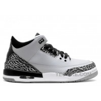 Big Discount! 66% OFF! Air Jordan 3 Retro Bg Girls Wolf Grey Sale
