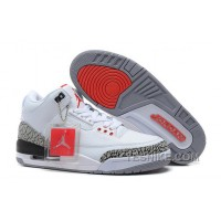 Big Discount! 66% OFF! For Sale Air Jordan 3 Retro '88 White/Black-Cement Grey