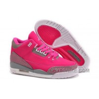 Big Discount! 66% OFF! Low Price Nike Air Jordan Iii 3 Retro Womens Shoes Special Pink Gray White JHFeX