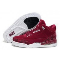 Big Discount! 66% OFF! Clearance Air Jordan 3 Iii Cemenst Retro Womens Shoes Fur Outlet Online New Wine Red C2B4K