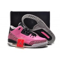Big Discount! 66% OFF! Closeout Nike Air Jordan Iii 3 Retro Womens Shoes New Baby Pink Black Special B78cW