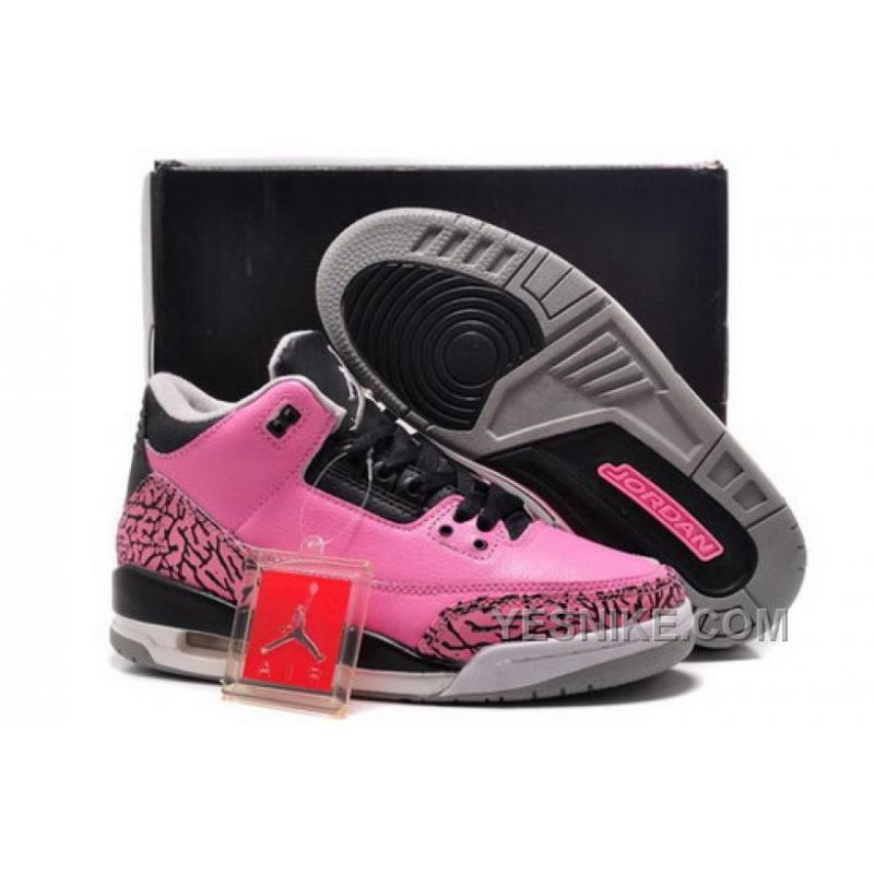 Big Discount 66 OFF Closeout Nike Air Jordan Iii 3 Retro Womens Shoes New Baby Pink Black Special B78cW