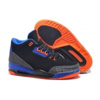 Big Discount! 66% OFF! Australia Nike Air Jordan Iii 3 Retro Womens Shoes Special Vlack Gray Blue Orange Qj6yY