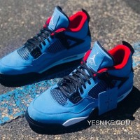 08497406 Travis Scott X Air Jordan 4 Cactus Jack Blue Discount