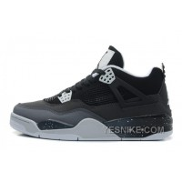 "Big Discount! 66% OFF! Air Jordan 4 Retro ""Fear"" Black/White-Cool Grey-Pure Platinum For Sale"