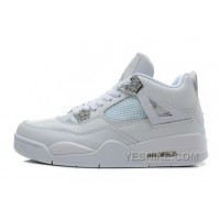 Big Discount! 66% OFF! Air JD 4 Retro Silver 25th Anniversary White/Metallic Silver For Sale 3eN3X