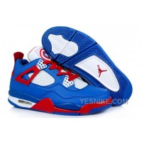 Big Discount! 66% OFF! Men NK Air JD 4 Captain America Blue/Red/White HXWwF
