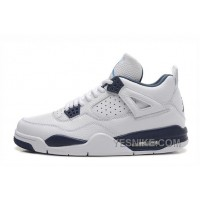 Big Discount! 66% OFF! Air Jordan 4 Retro White/Columbia Blue-Midnight Navy 2015 For Sale