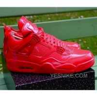"Big Discount! 66% OFF! Authentic Air Jordan 4 Retro 11Lab4 ""Red Patent Leather"" 719864-600"