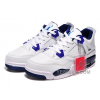 """Big Discount! 66% OFF! Online For Sale Nike Air Jordan 4 """"Columbia"""" White/Columbia Blue-Midnight Navy 2015"""