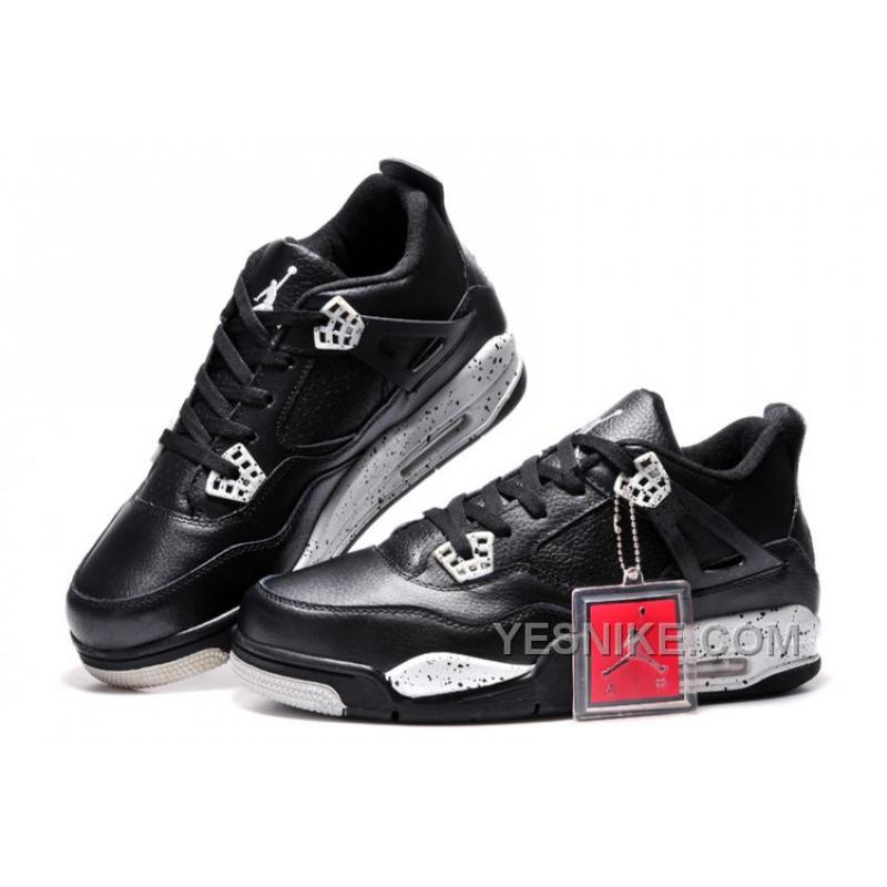 "wylot online uroczy połowa ceny Big Discount! 66% OFF! Online For Sale Nike Air Jordan 4 ""Oreo"" Black  Leather/White Speckle 2015"