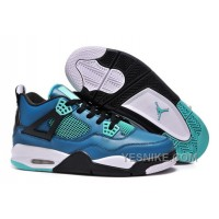 "Big Discount! 66% OFF! Air Jordan 4 Retro ""Teaser"" Teal/Black-White For Sale 2015"
