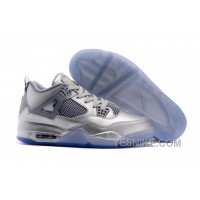 Big Discount! 66% OFF! 2015 Air Jordan 4 Liquid Metal Silver Shoes For Sale