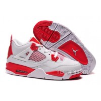 "Big Discount! 66% OFF! Carmelo Anthony Air Jordan 4 Retro ""Melo"" PE White Red For Sale"