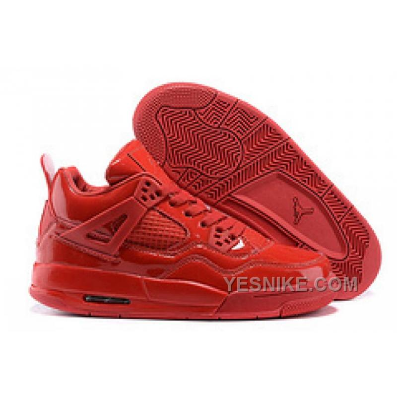 Air Jordans 4 Retro 11Lab4 Red Patent Leather For Sale