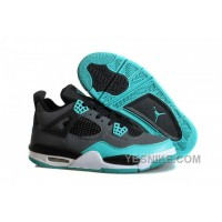"Big Discount! 66% OFF! Air Jordans 4 Retro ""Tiffany"" Teal-Black/Cement Grey For Sale 8GStb"