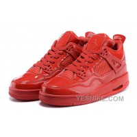 """Big Discount! 66% OFF! Air Jordan 4 Retro 11Lab4 """"Red Patent Leather"""" For Sale"""