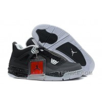 "Big Discount! 66% OFF! Air Jordan 4 (IV) Retro ""Stealth-Oreo"" Dark Grey/Mid Grey-LT Grey-White"