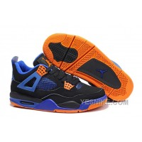 "Big Discount! 66% OFF! Air Jordan 4 (IV) Retro ""Cavs"" Black/Game Royal-Orange Blaze"