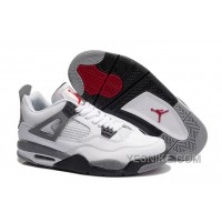 Big Discount! 66% OFF! Air Jordan 4 (IV) Retro White/Cement Grey For Sale