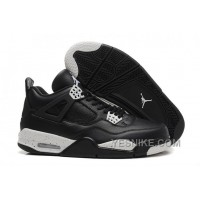 "Big Discount! 66% OFF! Air Jordan 4 Retro ""Oreo"" Black/Tech Grey-Black For Sale"
