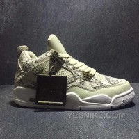 Big Discount! 66% OFF! Men Basketball Shoe Air Jordan IV Premium Snakeskin AAAA 307