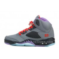 Big Discount! 66% OFF! Air JD 5 Wolf Grey/Black-Court Purple/Varsity Red For Sale YjheY