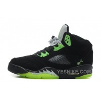"Big Discount! 66% OFF! Air Jordan 5 Retro ""Quai 54″ Black/Radiant Green Cheap For Sale Online"