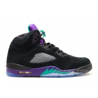 Big Discount! 66% OFF! Air Jordan 5 Retro Black Grape Sale