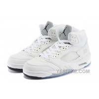 Big Discount! 66% OFF! 2015 Air Jordan 5 Retro All White/Metallic Silver-Black For Sale