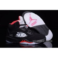 "Big Discount! 66% OFF! Supreme X Air Jordan 5 ""Sup Black"""
