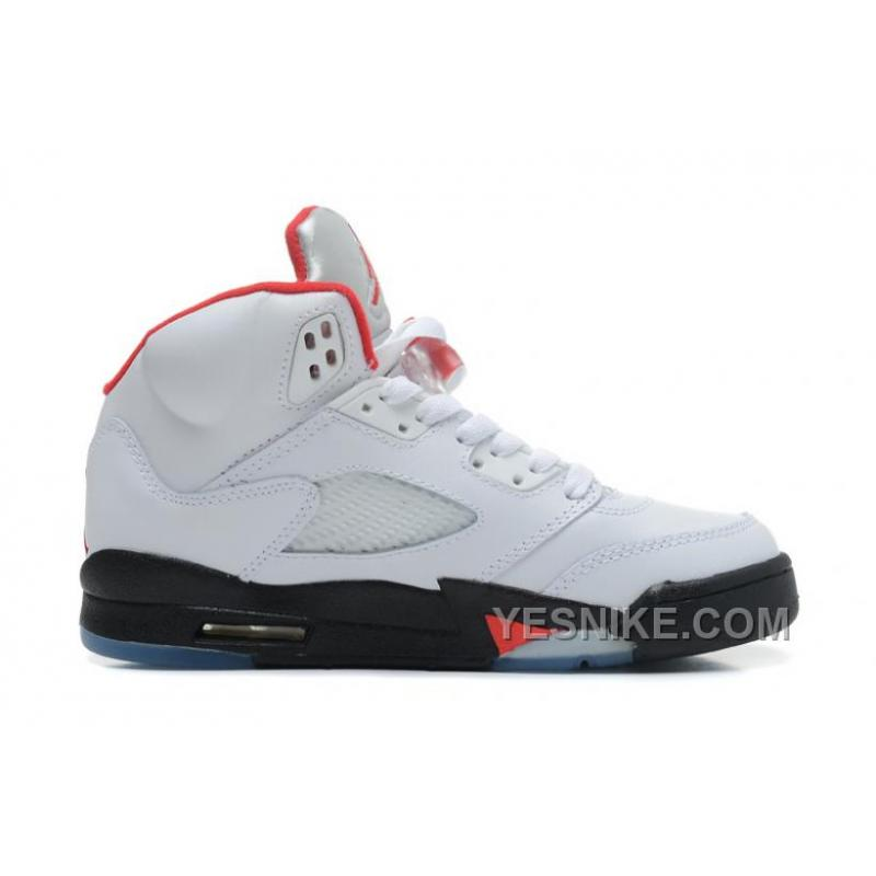 buy popular 20b57 b2301 Big Discount! 66% OFF! Air Jordans 5 Retro White Black-Fire ...