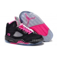 Big Discount! 66% OFF! Netherlands Nike Air Jordan V 5 Retro Womens Shoes Fur Black Baby Pink Gray New MYY7k