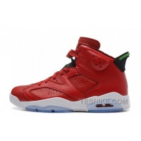 "Big Discount! 66% OFF! Air Jordan 6 (VI) Retro ""MVP/History Of Jordan"" Red Leather/Green For Sale"