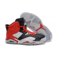 Big Discount! 66% OFF! Sale Cheap Air JD 6 Retro Black White Red For Mens Online Xcjce