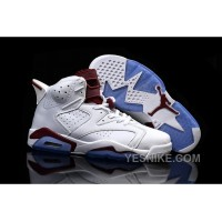 Big Discount! 66% OFF! 2015 Release Men Air Jordan 6 Maroon Off-White New Maroon