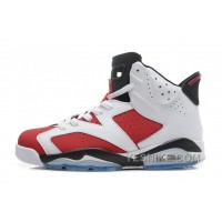 "Big Discount! 66% OFF! Air Jordan 6 (VI) Retro ""Carmine"" White/Carmine-Black Cheap For Sale Online"