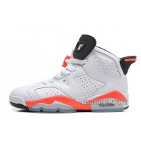 "Big Discount! 66% OFF! Air Jordan 6 (VI) Retro ""Infrared"" White/Infrared-Black Cheap For Sale Online"