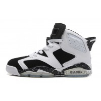 "Big Discount! 66% OFF! Air Jordan 6 (VI) Retro ""Oreo"" White/Black-Speckle For Sale Online"