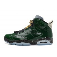 "Big Discount! 66% OFF! Air Jordan 6 (VI) Retro ""Champagne Bottle"" Pro Green/Metallic Gold-Chilling Red-Black"
