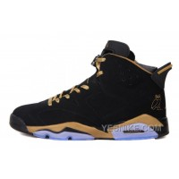 "Big Discount! 66% OFF! Air Jordan 6 (VI) Retro ""OVO"" Black Nubuck/Gold For Sale Online"