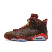 "Big Discount! 66% OFF! Air Jordan 6 (VI) Retro ""Championship Cigar"" Raw Umber/Chilling Red-Team Red-Metallic Gold"