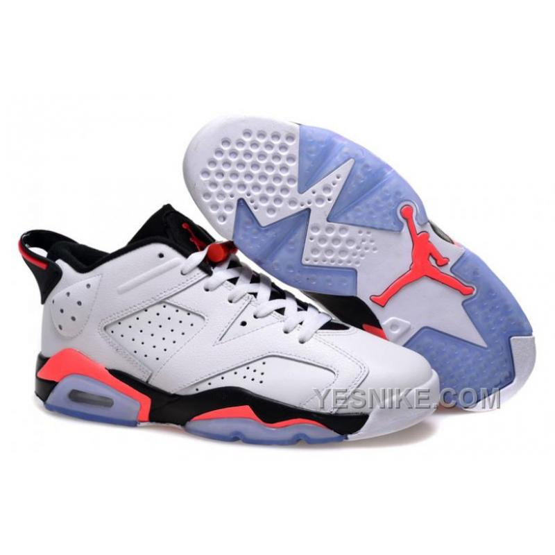 new arrival 2afd2 65fe4 Big Discount! 66% OFF! Air Jordans 6 Low White/Infrared 23-Black For Sale  5eZ2F