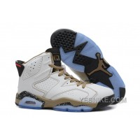 Big Discount! 66% OFF! Air Jordan 6 Retro White Black Gold Online For Sale