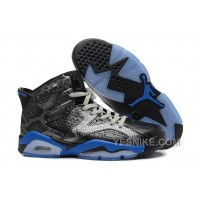 Big Discount! 66% OFF! Air Jordan 6 Retro Black Snakeskin/Royal Blue Online Sale
