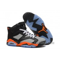 Big Discount! 66% OFF! Air Jordan 6 Retro New Style Black Grey Orange Sale