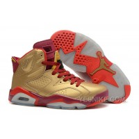 Big Discount! 66% OFF! Air Jordan 6 Retro Metallic Gold/Team Red For Sale Online