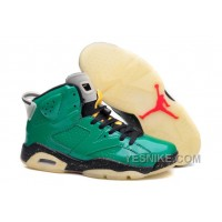 Big Discount! 66% OFF! Air Jordan 6 Retro Pro Green/Chilling Red-Black Glow In The Dark
