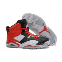 Big Discount! 66% OFF! Air Jordan 6 Retro Black White Red New Style On Sale
